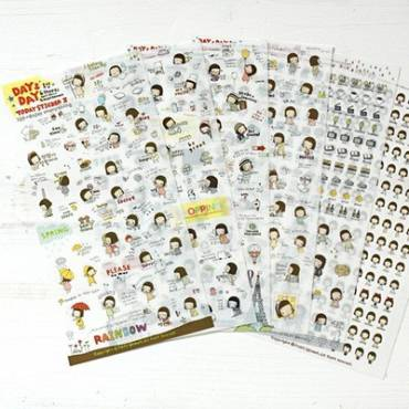 Pony Brown Day & Day - 6 planches de stickers Kawaii