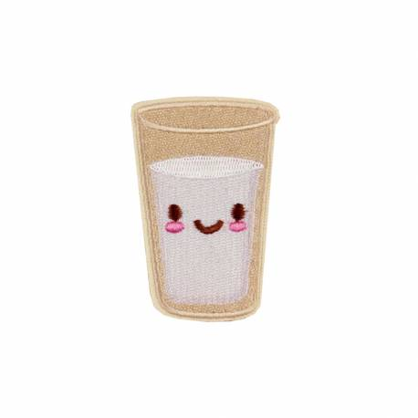 Patch Kawaii Verre de Lait