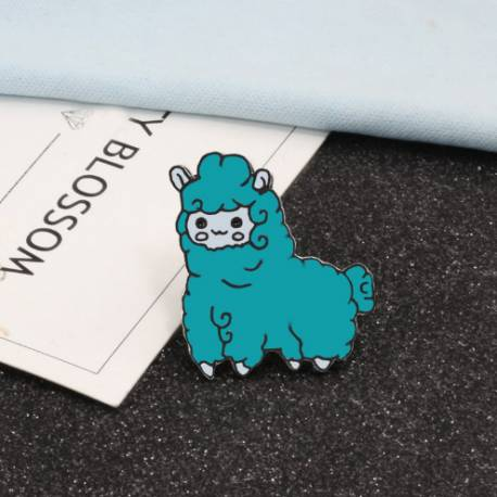 Broche Kawaii Green Sheep