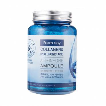 FARM STAY - All In One Ampoule Collagène & Acide Hyaluronique