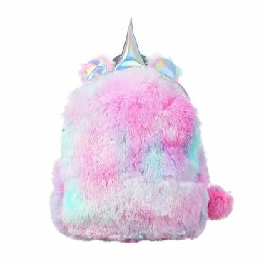 Sac à dos fluffy licorne rose